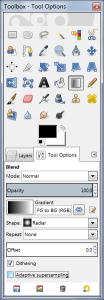 blend tool gradient in gimp