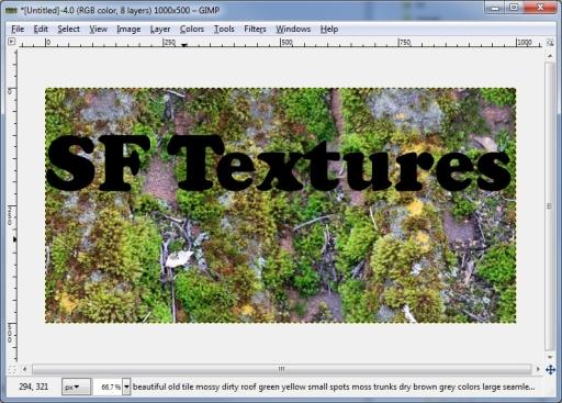 drop texture behind text