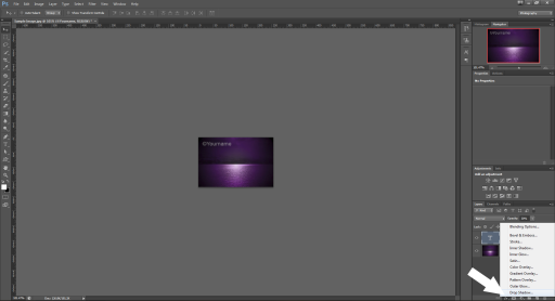 watermark drop shadow text photoshop tutorial