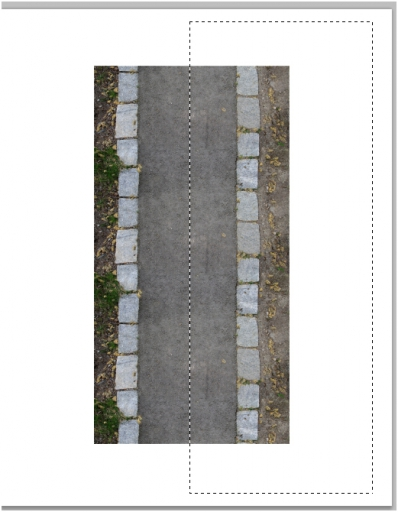 Increase the width of the road texture in Photoshop