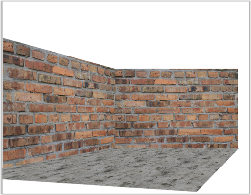 Add ground to the brick walls in photoshop
