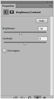 1.Set the brightness in the properties panel to around -40