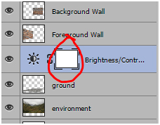 Select the mask icon on the adjustment layer