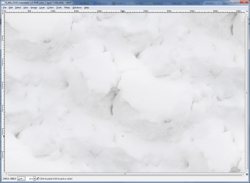 seamless tiled snow white texture in gimp using map filter