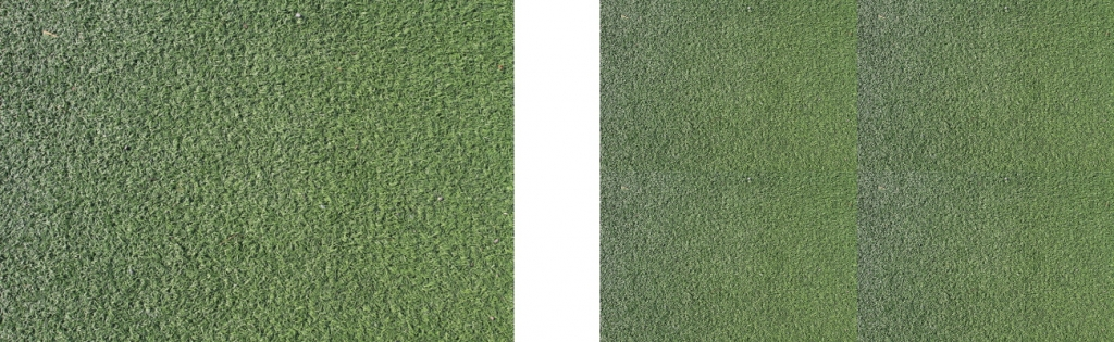 artificial grass tiling problem with sidelight photography