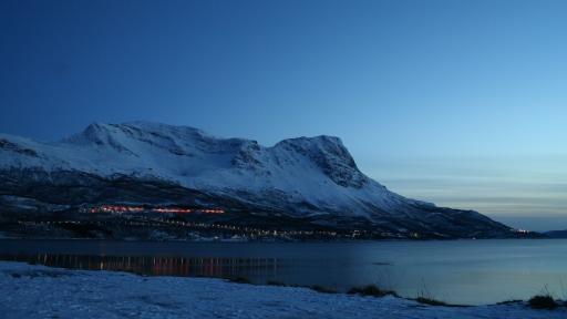 blue mountain stock photo side light evening