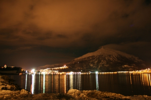 norway city night reflect light photo by studiofreya