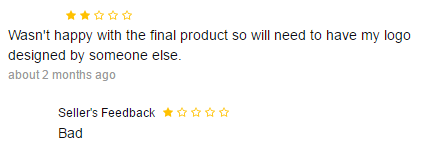 seller bad feedback not happy logo result